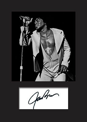 JAMES BROWN #2 Signed Photo Print A5 Mounted Photo Print - FREE DELIVERY