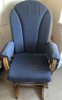 Dutailier rocking blue nursing chair