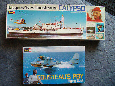 """Revell H- 0575  Cousteaus """"Calypso"""" u. Revell 575 BPY Catalina- Flugboot"""