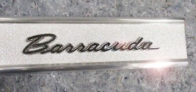 BARRACUDA TRUNK PANEL 67 - AWESOME POLISHED cuda grille 1967 FINISH PANEL