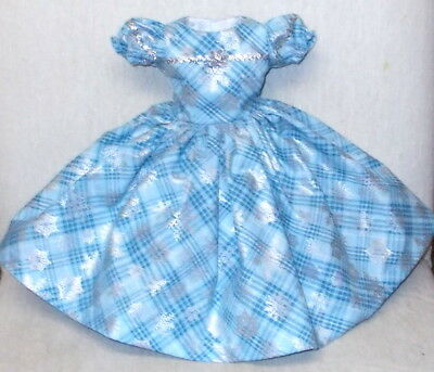 "20""  CISSY   Miss REVLON   FASHION  Clothes   PLAID  SILVER  & SNOWFLAKES  DRESS"
