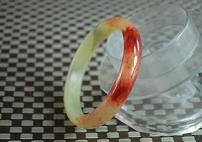 Exquisite China hand carved  old natural red bloodshot jade bangle k005