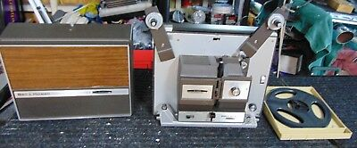 Bell & Howell 456A Super 8+ 8mm Autoload Movie Projector w/Lamp and 2 reels