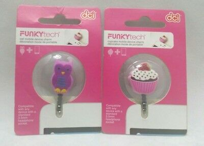 Cell Phone Dust Plug Caps Charms In Earphone Hole Funky Tech Owl Cupcake Kids