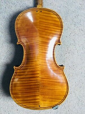 A Late 19th early 20th century Double Purfled Violin in Veneered Case