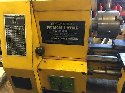 "Lathe 8 1/2"" x 18"" Central Machinery"