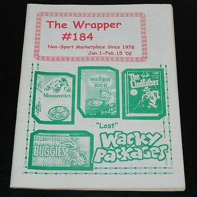 The Wrapper #184 2002 Non Sport Card Fanzine Magazine Wacky Packages Packs