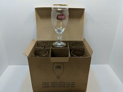 **NEW SET of 6** STELLA ARTOIS 50cl / 16.9 BEER GLASSES** NEW IN BOX**