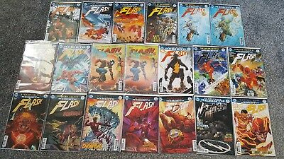 THE FLASH MIXED LOT #10,14,15,18,21,22,24-27,29-32,35 (2017/18) 20 Comics