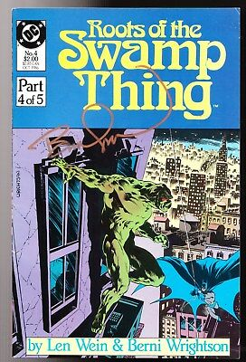 Roots Of The Swamp Thing #4 Signed Wrightson 8.0 Vf Higher Grade