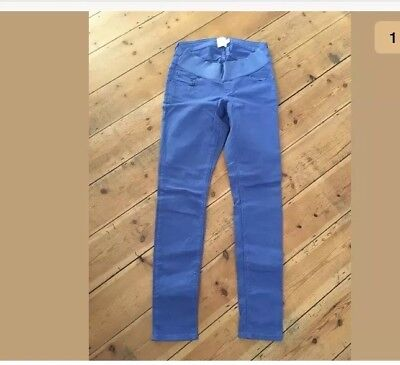 ASOS Maternity Electric Blue Skinny Jeans Under Bump Band Size 10 HARDLY WORN