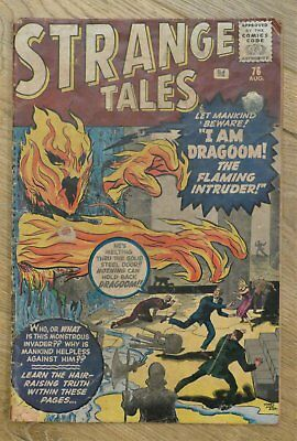 "Strange Tales #76 - ""I Am Dragoom! The Flaming Intruder"" UK Aug 1960 issue"