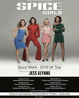 Spice Girls 2019 Tour Seated 2 Tickets Sat 15Th June London Wembley
