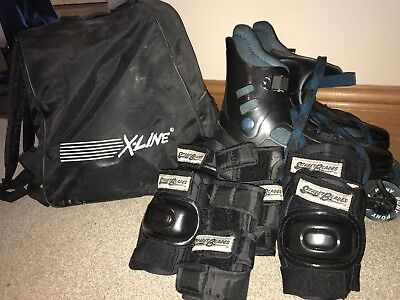 Pony Rollerskates Size 8 With 3 Sets Of Pads And Bag
