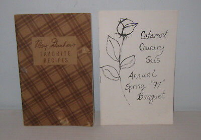 Mary Dunbar's Favorite Recipes Cook Bklt Vintage + Cataract Wi Spring Banquet