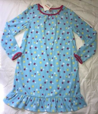gymboree girl Gymmies blue star night gown L (10-12) Fuzzy soft