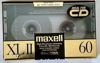 Maxell XLII-60 Cassette – New/Sealed – Made in Japan