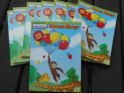 New Curious George coloring & activities books, George's Adventures, Party favor