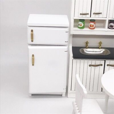 Dollhouse Miniature Kitchen Furniture Refrigerator Fridge Freezer Cabinet 1/12
