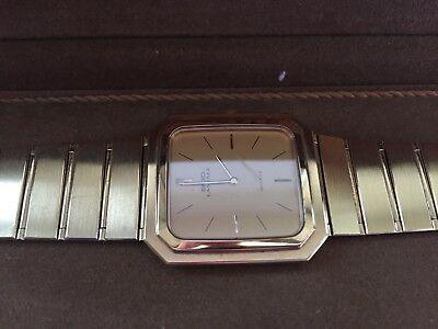 LASSALE SEIKO Gilded Vintage Men's Watch 9300-5559A ULTRA THIN Japan New Battery