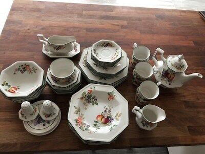 Selection Of Plates, Cups And Saucers, Johnson Bros. Fresh Fruits