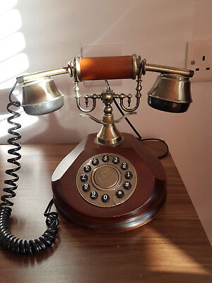 Vintage style wooden telephone