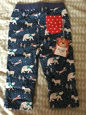 Frugi christmas trousers age 12-18 months bnwt