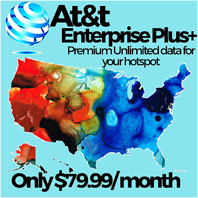 At&t Unite Hotspot +Unlimited 4G Lte Data Plan No Throttling $29.99/month