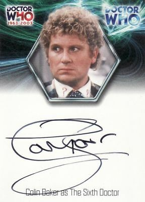 Doctor Who 1963-2003 : 40th Anniversary WA7 Colin Baker as The Sixth Doctor 2003