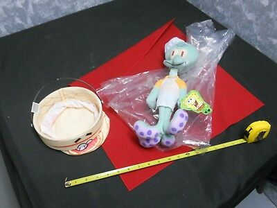NANCO Spongebob Squarepants 16 in SQUIDWARD Tentacles Plush Toy In Chef Outfit +