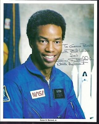 AUTOGRAPH FIRST AFRICAN  AMERICAN IN SPACE,Astronaut GUY BLUFORD, NASA PHOTO
