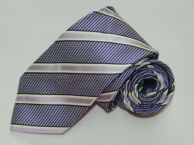 Men's Hugo Boss Purple 100% Silk  Neck tie Made in Italy