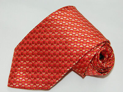 Men's Hugo Boss Red  100% Silk  Neck tie Made in Italy