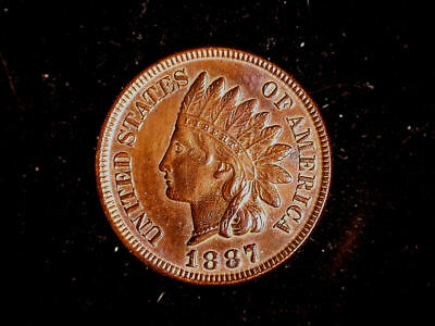 1887 Indian Head Cent - BU Uncirculated Details
