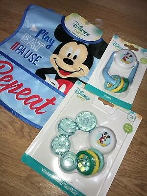 Baby Boy Mickey Mouse Blue Bundle Baby Shower Gift Baby's First Christmas Toys
