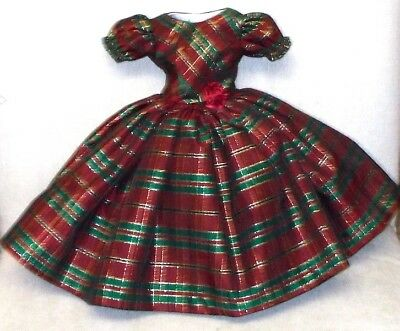"20""   CISSY  Miss REVLON    FASHION   Clothes   GORGEOUS   PLAID  TAFFETA  DRESS"