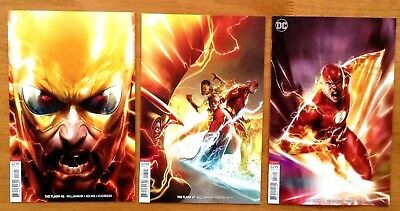 Flash 46,47,48 2018 Francesco Mattina Cover B Variants 3 Book Set  DC NM