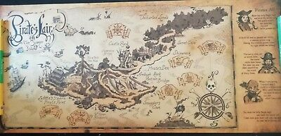 Retro Kraft Paper Pirate Sailing World Map Poster 72.5X33cm
