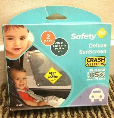 Safety 1st Baby On Board Deluxe Sunscreen (2 Pack), New in Box