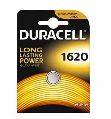 Lot de  10 Piles CR1620 DURACELL bouton Lithium 3V CR 1620 Best Before 2026