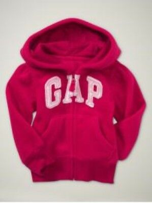 NWT Baby GAP Soft Fleece Arch Logo Hoodie Activewear Scarlet Red NEW 2T 2 Years