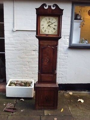 Grandfather Clock J Deacon  Barton  Spares Or Repair  1790 -1800's ?