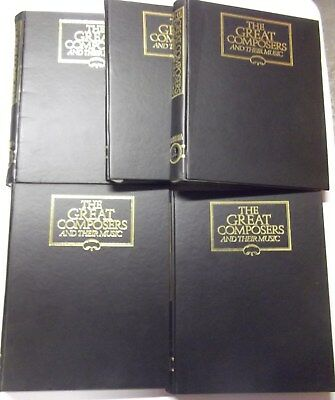 1-5 THE GREAT COMPOSERS in BINDERS by MARSHALL CAVENDISH complete set