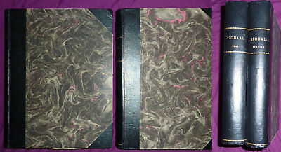 Signal magazines - French & Dutch (F & H), 35 bound issues 1940, 1941 & 1944