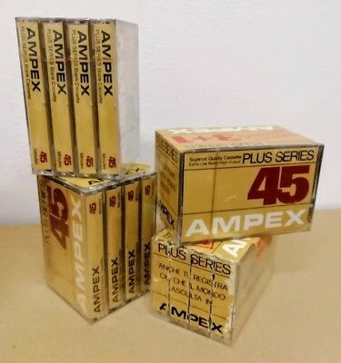 Lot Stock 16x AMPEX Blank Audio Tape Virgin LOTTO Plus Series SUPERIOR CASSETTE