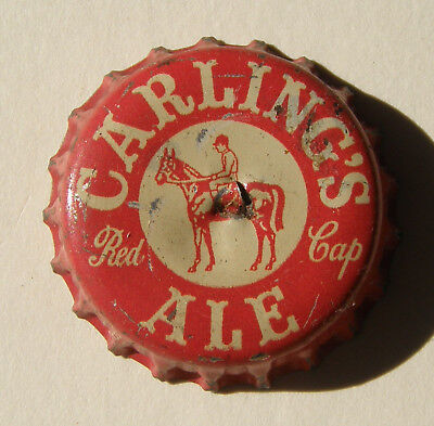 Carling's Red Cap Ale beer bottle cap made by Crown Cork & Seal