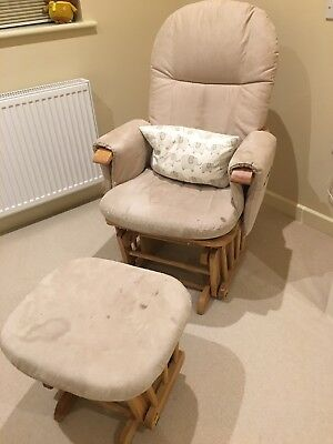 Tutti Bambini Beige Nursing Rocking Chair And Footstool