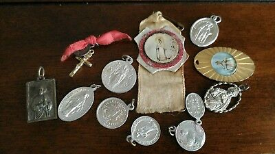 Lot of Vintage Religious Pendants Charms Medals Catholic Jewelry 1 Sterling