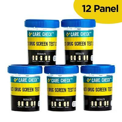 Care Check Sterile 12 Panel Multi Drug Screen Test Urine Sample Collection Cups