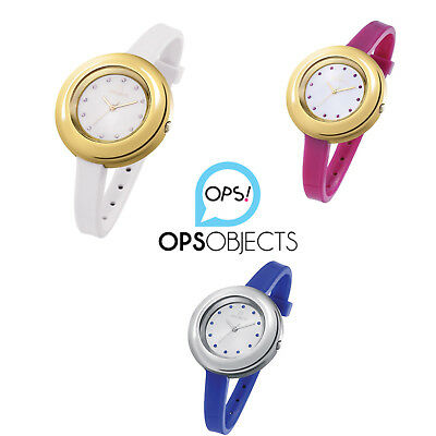 ops objects orologio donna strass lux gold silver opspw bianco blu fucsia nuovo